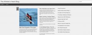 Screen shot from Athlete's Heart Blog