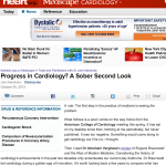 New post up on theHeart.org/Medscape Cardiology…Where is the progress in Cardiology?