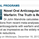 New post up at Medscape Cardiology: Are novel anticoagulants better than warfarin?